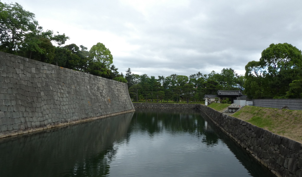 Moat at Nijo Castle in Kyoto
