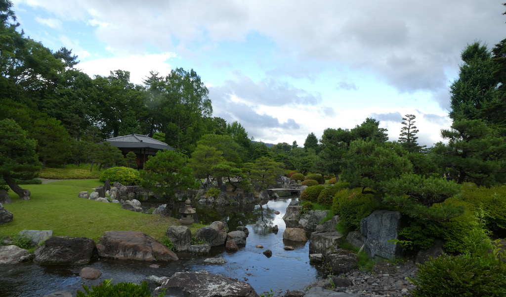 Japanese Garden at Nijo Castle in Kyoto
