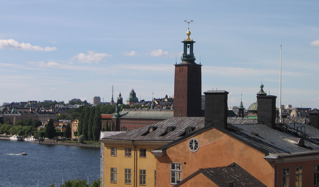 Rooftop walk in Stockholm Sweden 2010